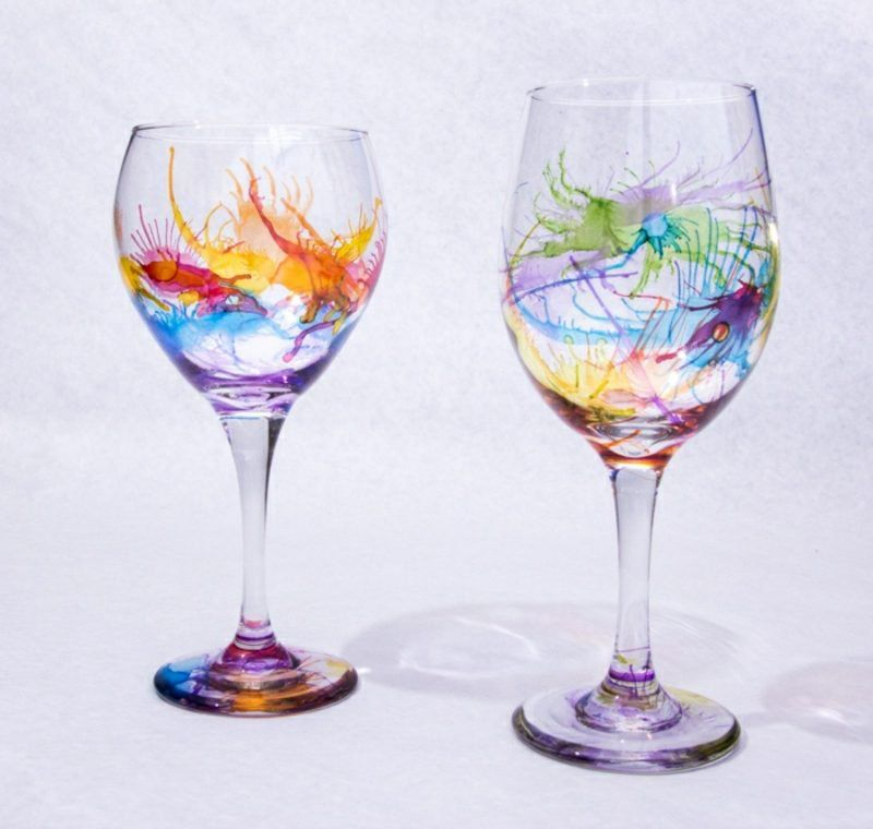 33+ Alcohol ink wine glasses inspirations