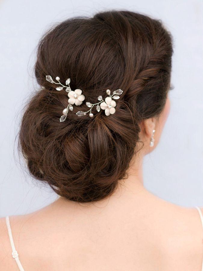 romantic flower vine bridal hair pin lana bridal hair accessories by hair comes the bride
