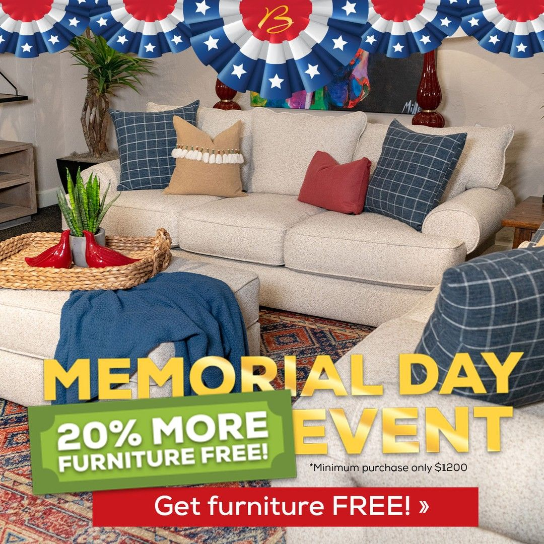 Memorial Day Is Now - Get the Living Room Set AND Get 7% MORE