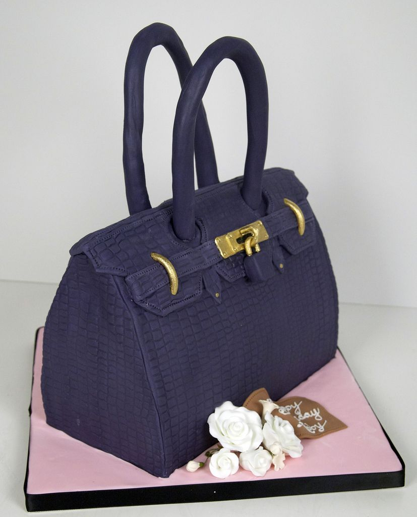 A Cake To Look Like Violet Hermes Purse For Birthday Created By Fortheloveofcakeca In Toronto