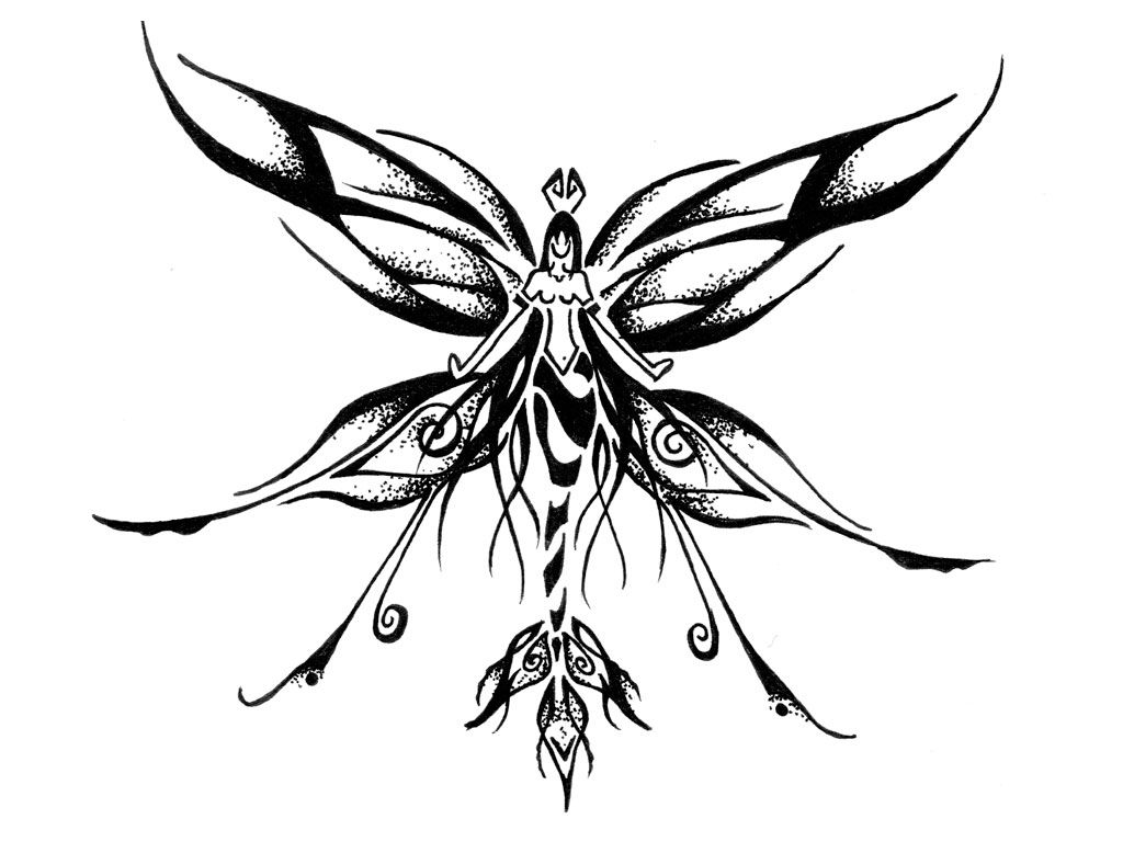 Wing tattoo design - Mermaid With Wings Tattoo Design Photo 4 Real Photo Pictures