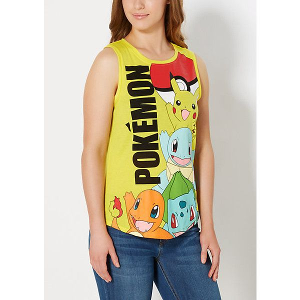 Pokemon Original Lineup Muscle Tank ❤ liked on Polyvore featuring tops and muscle tank