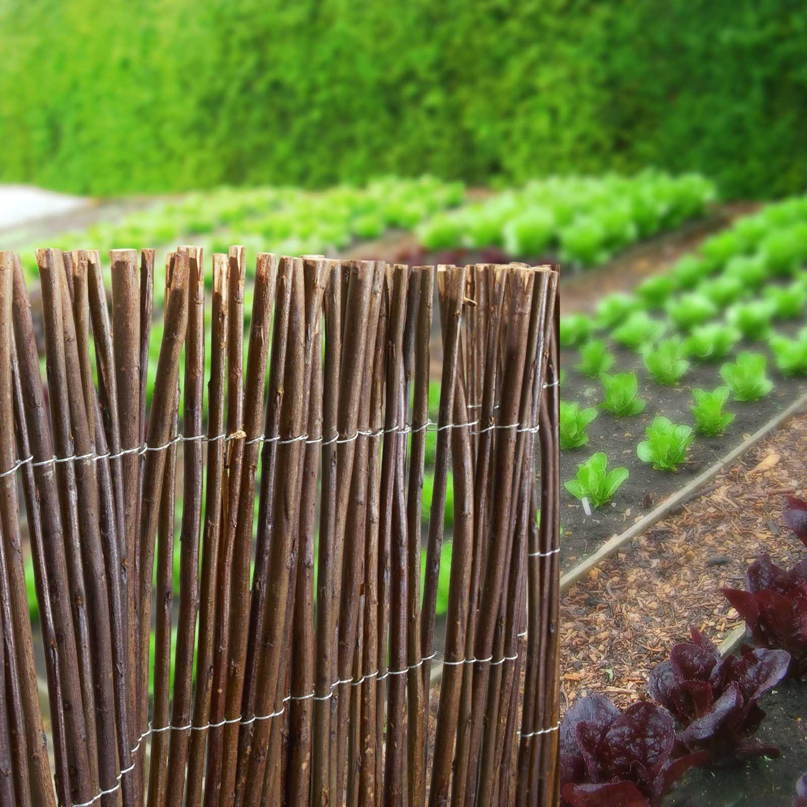 Sichtschutz Garten Weidenzaunmatten 3 Größen