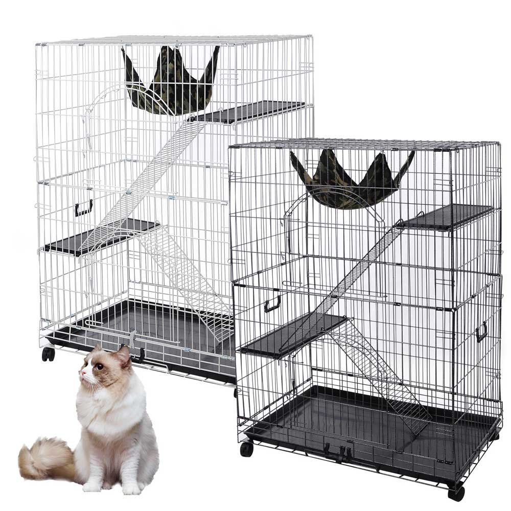 51\'x35\'x22\' Large Cat Pets Wire Cage 2 Door Playpen Free Hammock ...