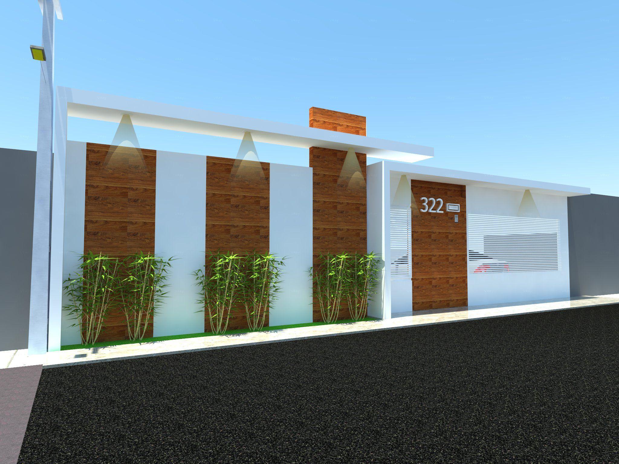 muro casa cliente manaus lindas plantas pinterest