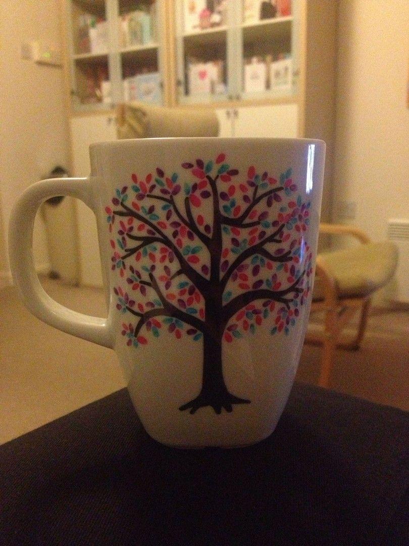 48 DIY Craft Project Sharpie Mug Tutorial #mugart