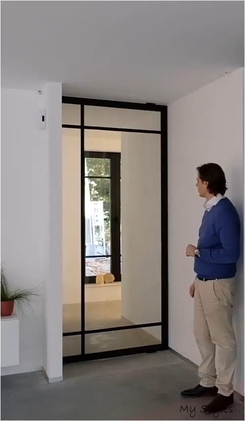 Crittall Pivot Door Second Hand Caravans In 2020 Glass Doors Interior Doors Interior Modern Pivot Doors