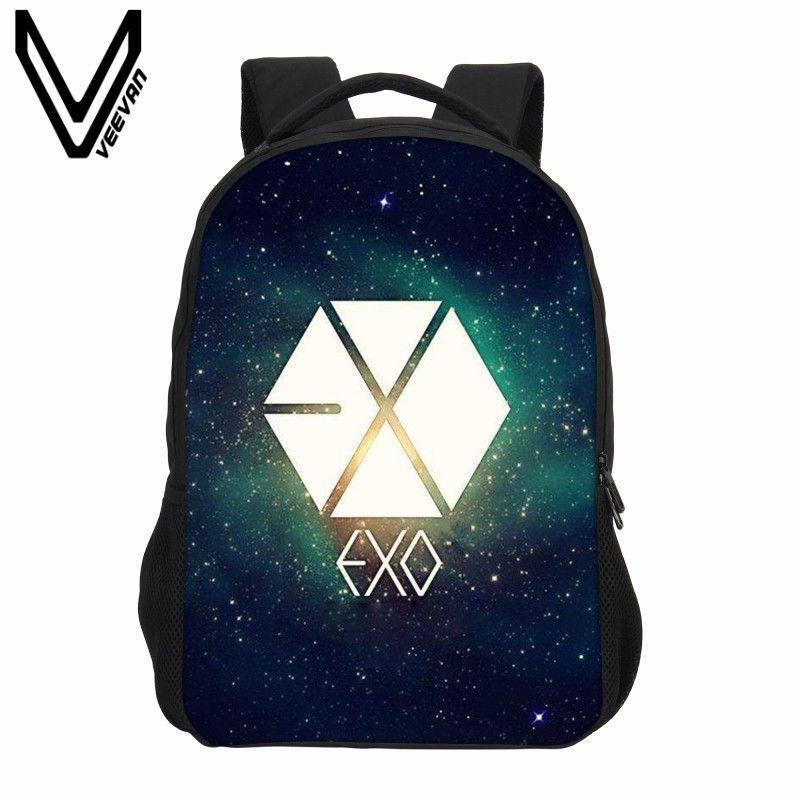 b3f6f0e39c VEEVANV Fashion Designer Cartoon Backpack 3D Printing Backpack Boys Cool  EXO Letter Bag School Mochila Children