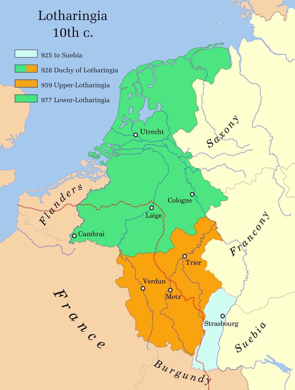 Lower Lorraine - Wikipedia | Netherlands map, Holland map ...