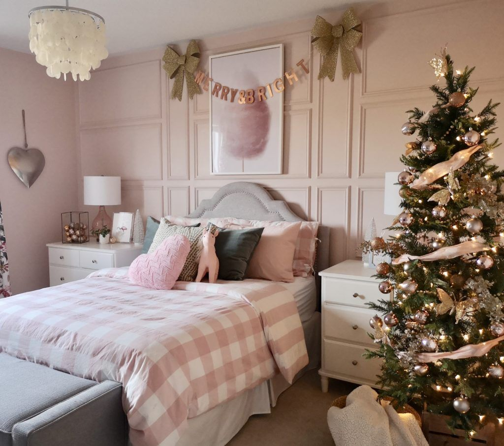 Pretty Pink Girls Christmas Room images