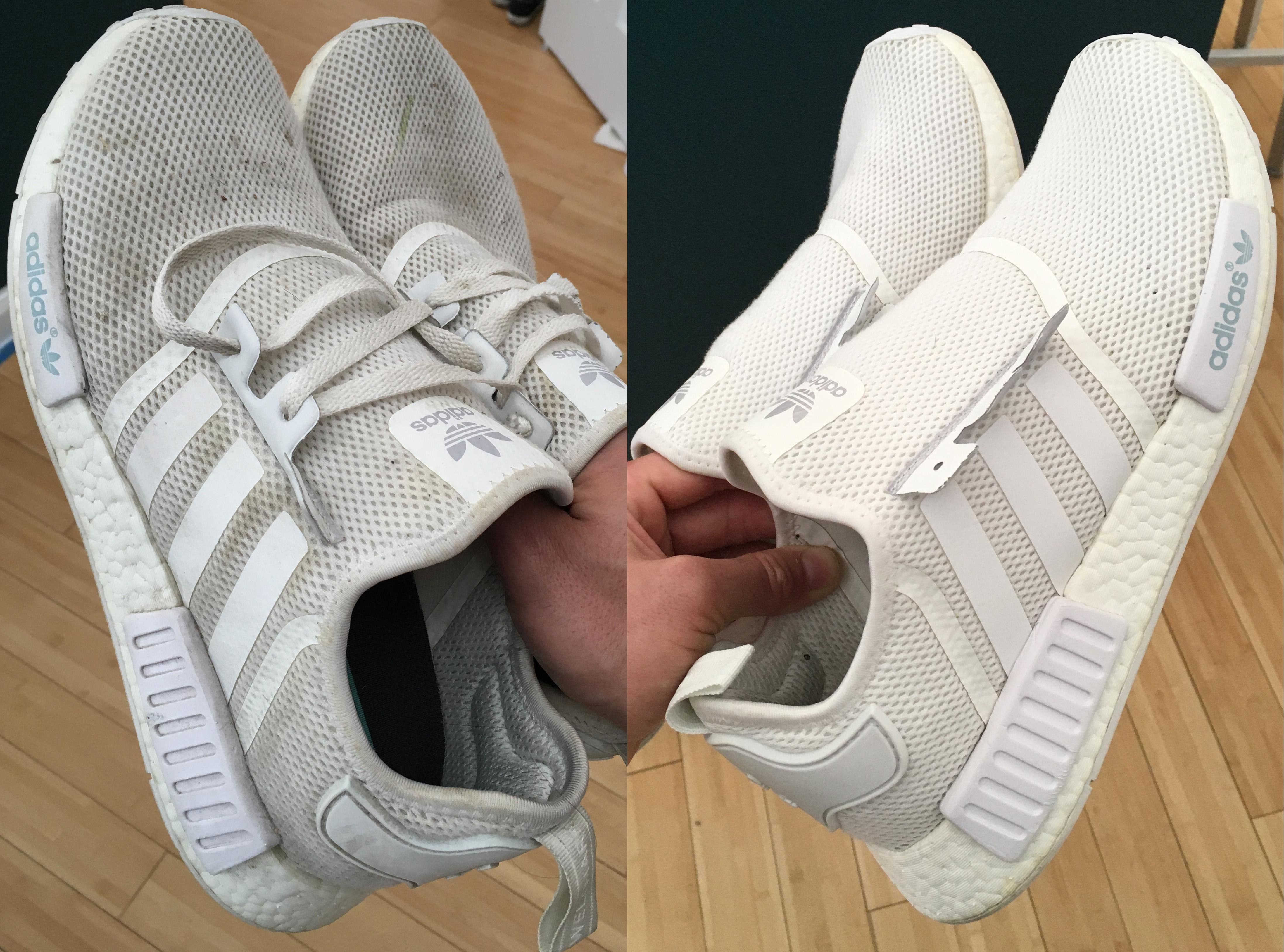 Don't be afraid to use your washing machine: NMD Before After