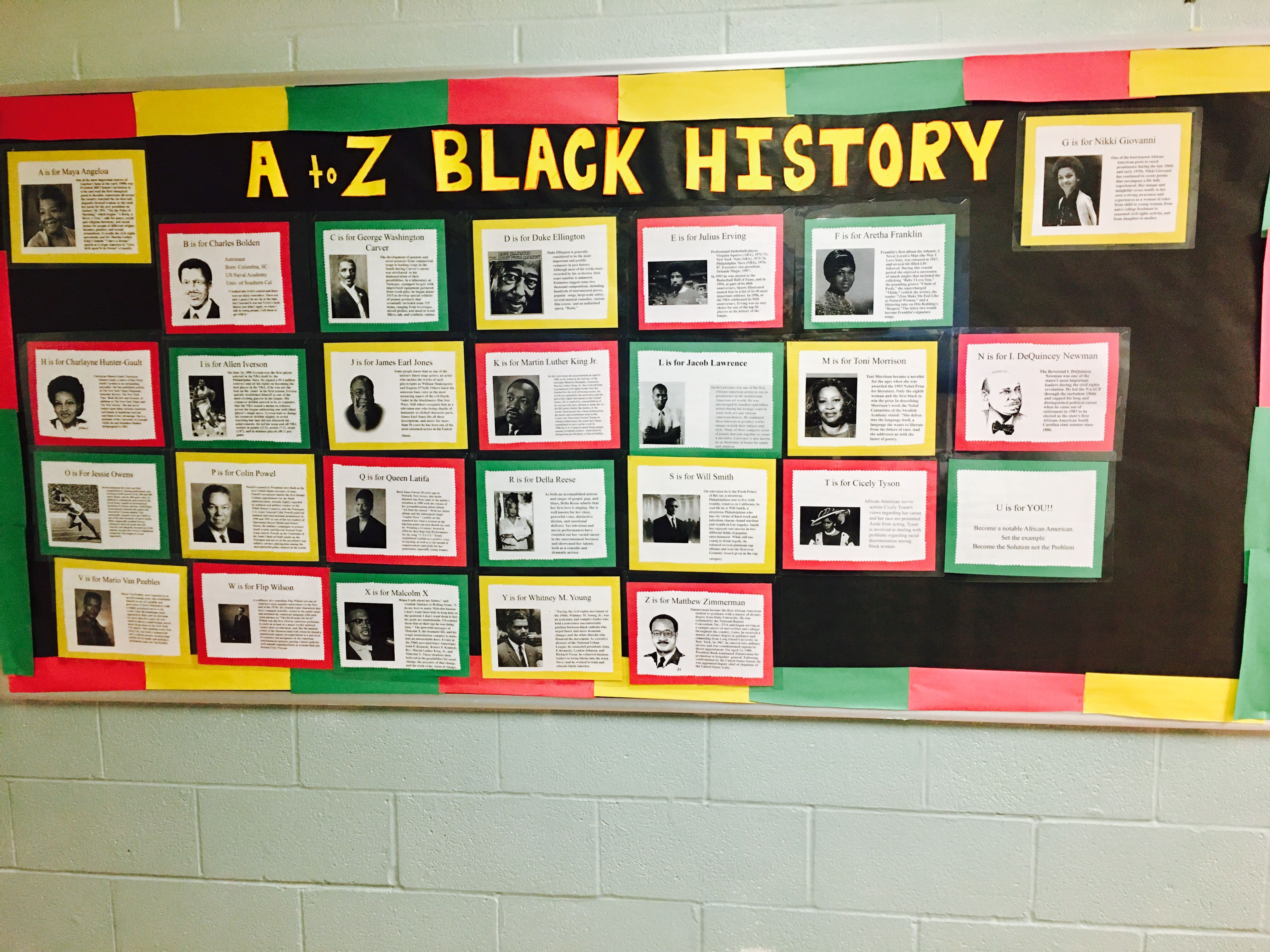black history bulletin board | black history month: february