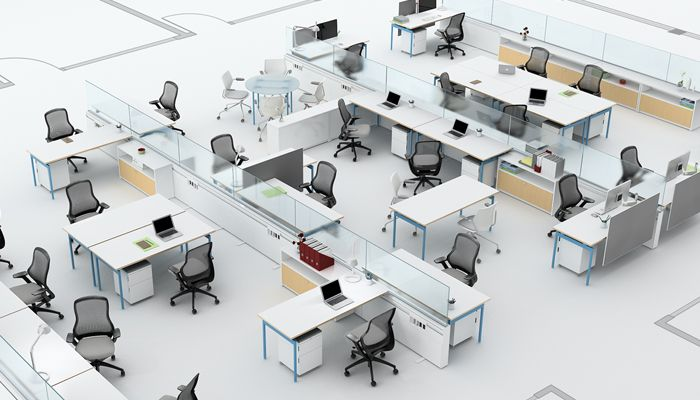 Antenna Workspaces With Currents Fence Office Layout Plan