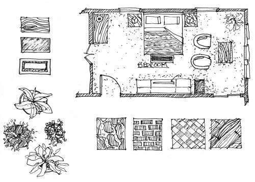 Rendered Floor Plan Sketch Floor plan sketch, Plan