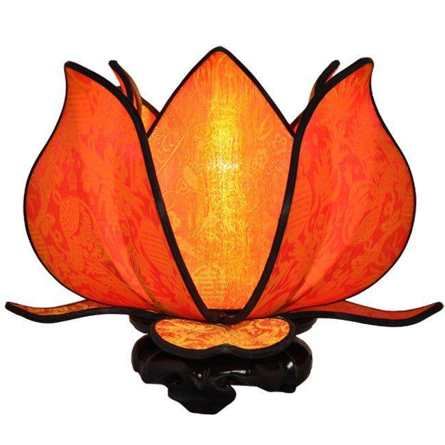 Baby Blooming Lotus Lamp   Citrus