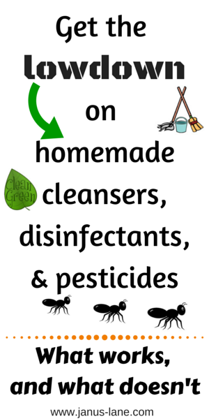 The lowdownon homemade cleansers and disinfectants: What works and what doesn't. Brought to you by Janus-Lane.com