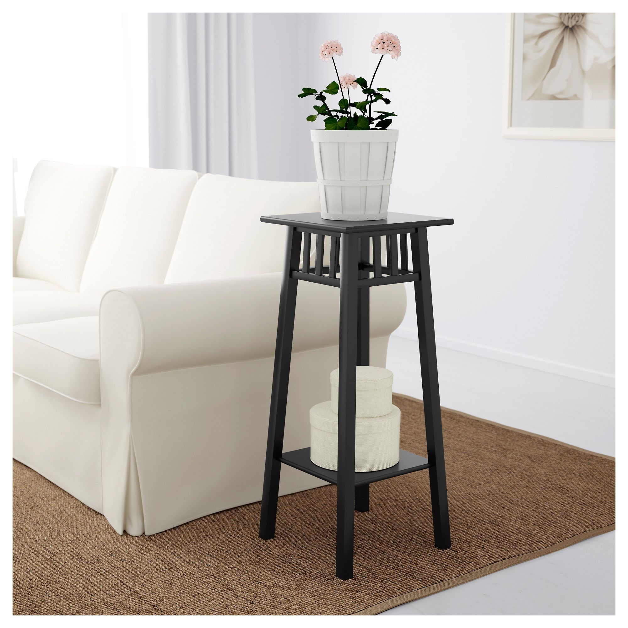 IKEA  LANTLIV Plant stand dark brown is part of Home Accents Ikea Hacks - IKEA Plant stand dark brown Length 32 cm, Width 32 cm, Height 78 cm, Max  load 25 kg, 50186114