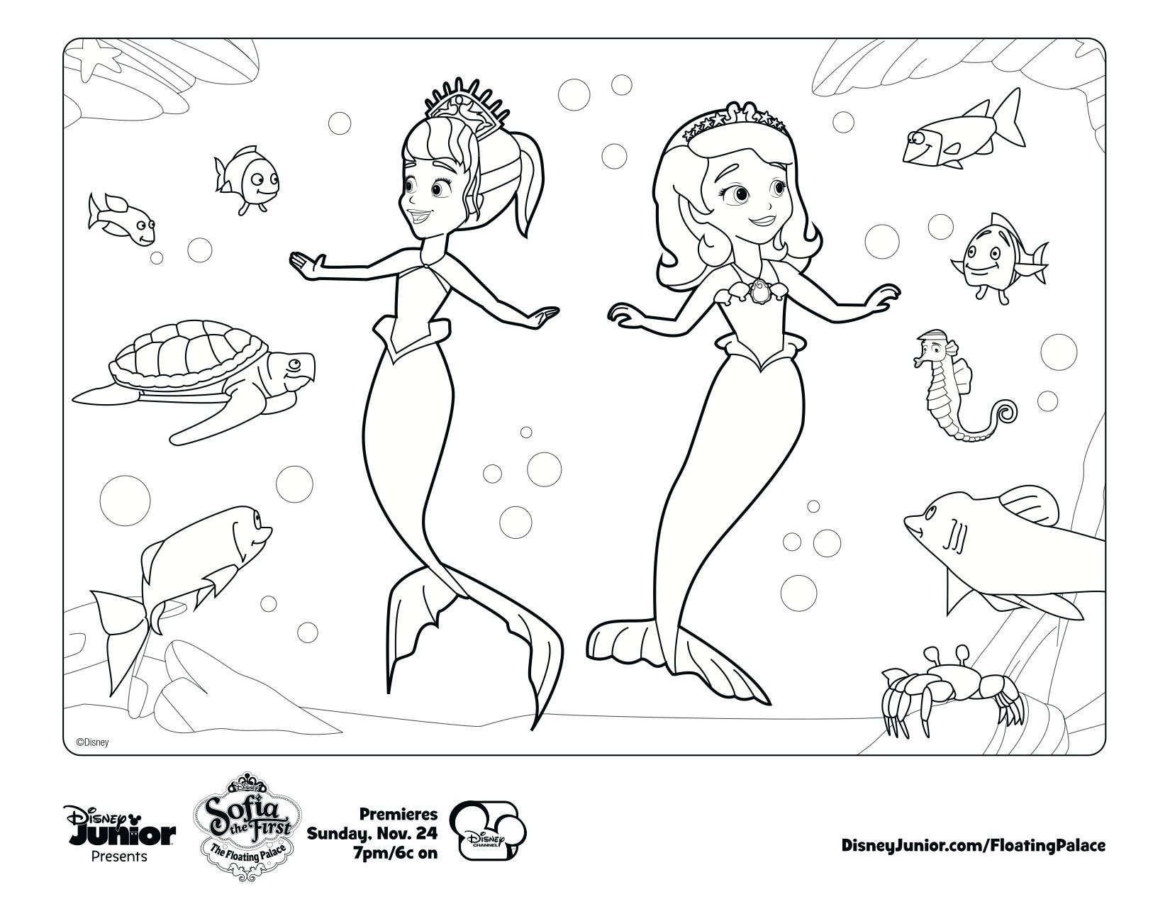 Free disney junior colouring pages - Sofia Coloring Pages