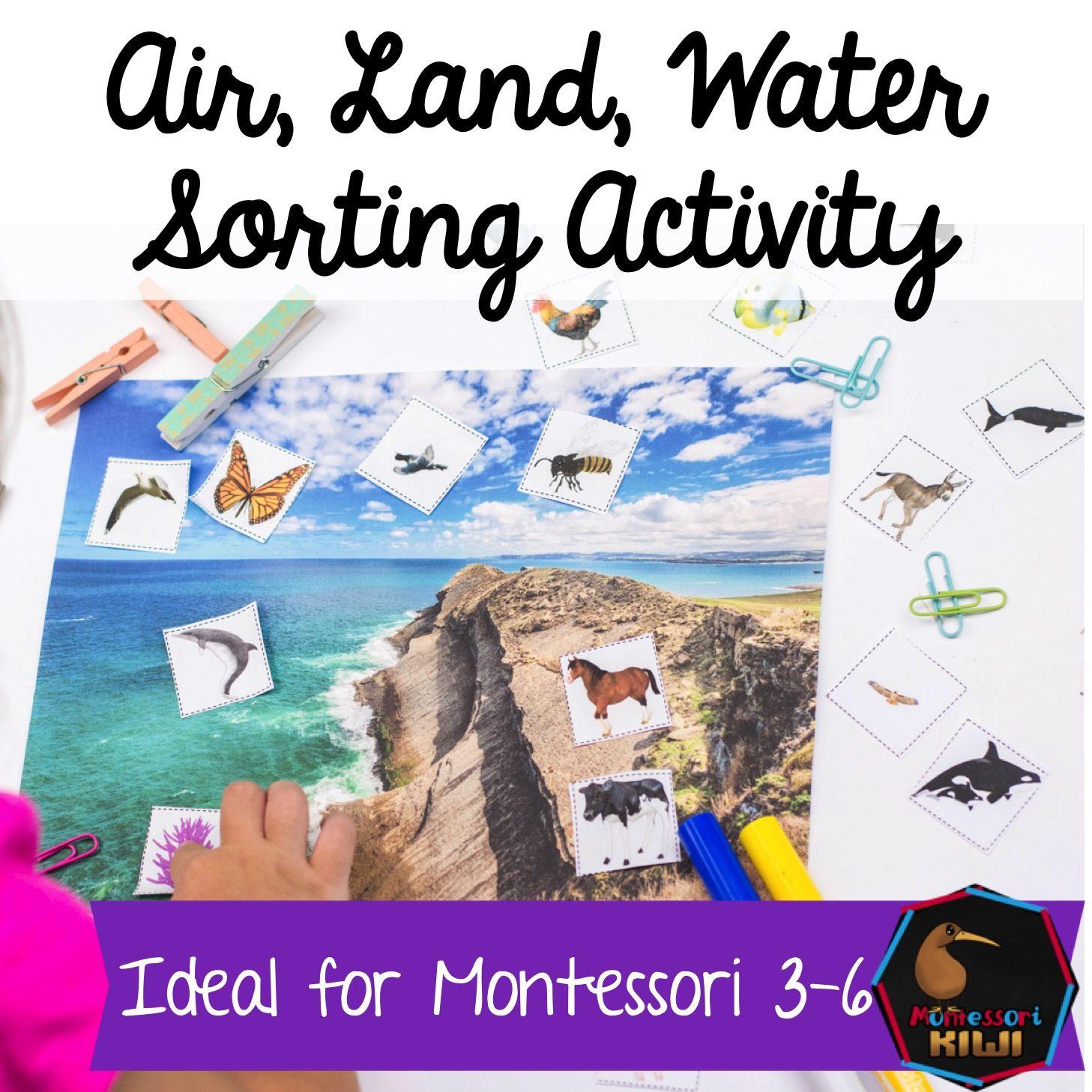 Air Land Water Montessori Material For Sorting Animals