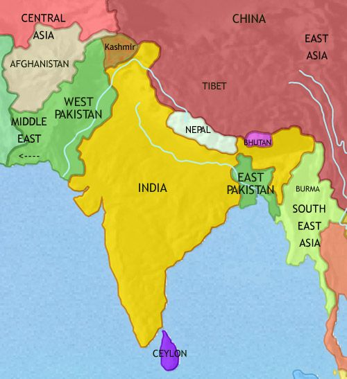 History map of india and south asia 1960ad yell o pinterest history map of india and south asia 1960ad gumiabroncs Gallery