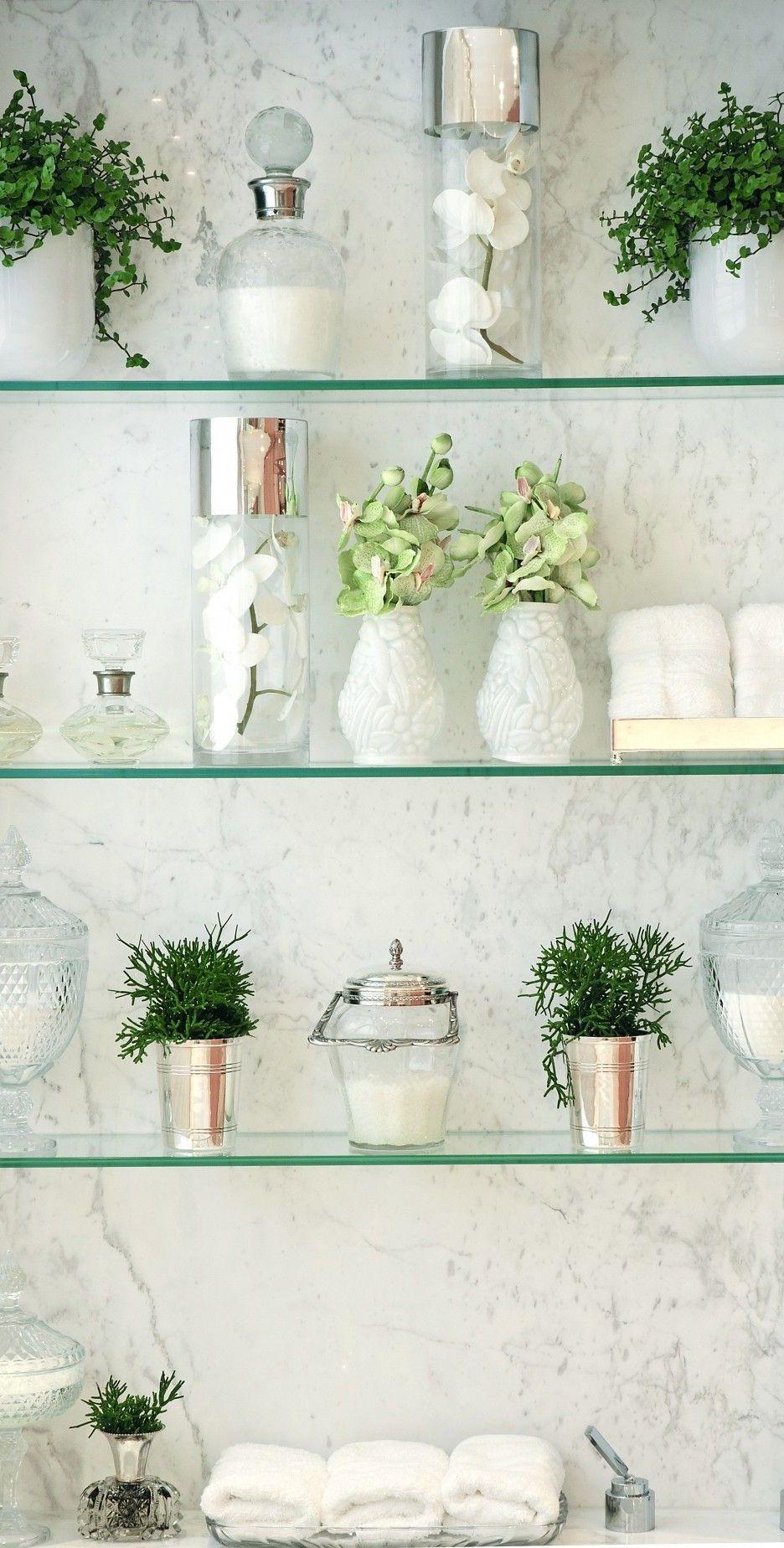 How To Create A Spa Like Bathroom A Step By Step Guide Glass Shelves In Bathroom Glass Shelves Decor Glass Bathroom Shelves
