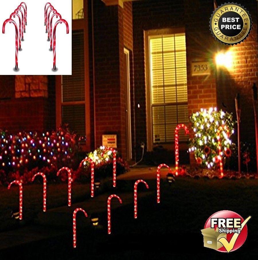 Christmas Pathway Lights 10pc Outdoor Decoration Garden