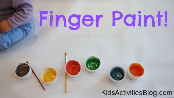 Finger Paint (and feet): Homemade Fun