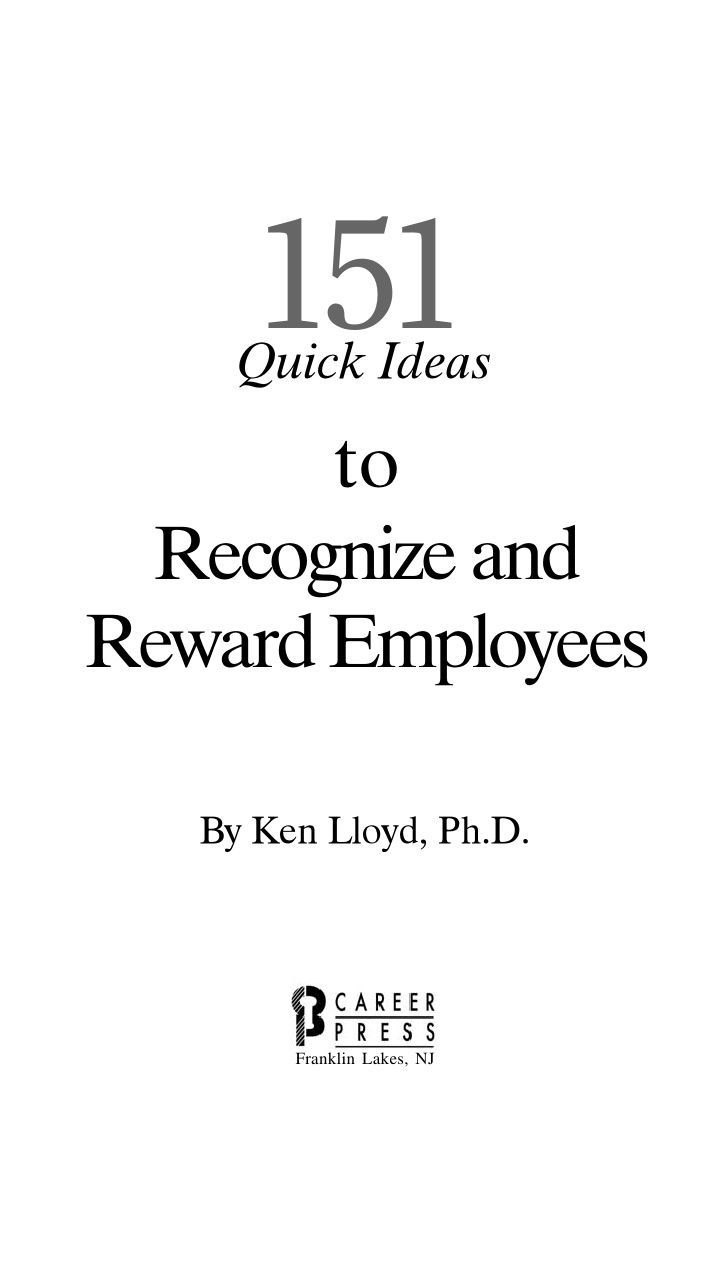 151 quick ideas to recognize and reward employees #motivation