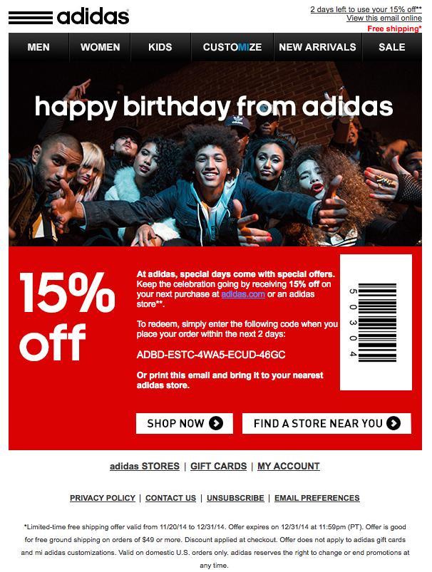 adidas online 15 off