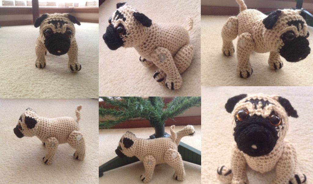 This is my crochet pattern for Winston the Pug. | Knitting ...