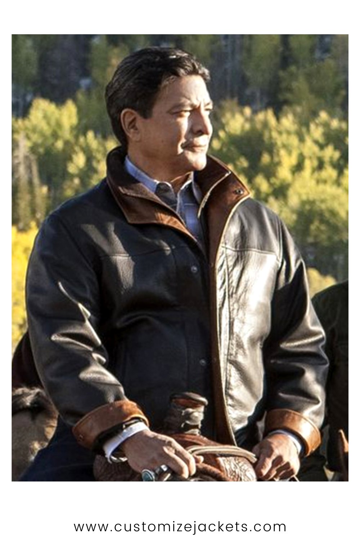 Gil Birmingham Yellowstone Black Jacket In 2021 Brown Leather Jacket Leather Jacket Black Leather Jacket [ 1500 x 1000 Pixel ]