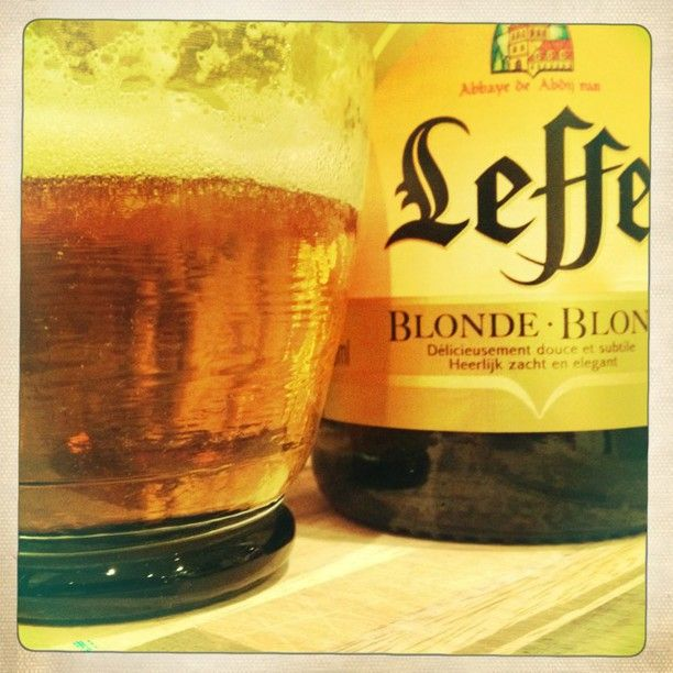 Saturday night & a refreshing Leffe beer!