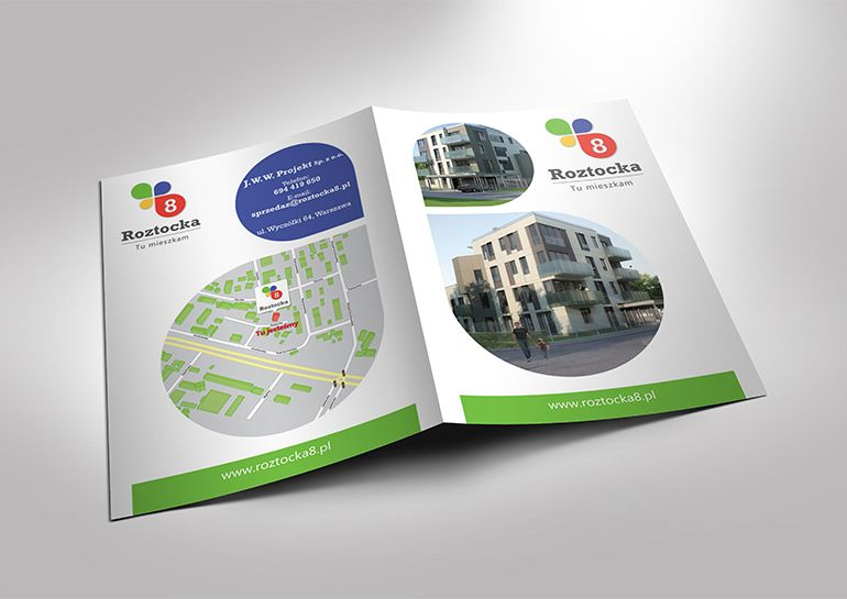 Leaflet for housing estate - Roztocka8