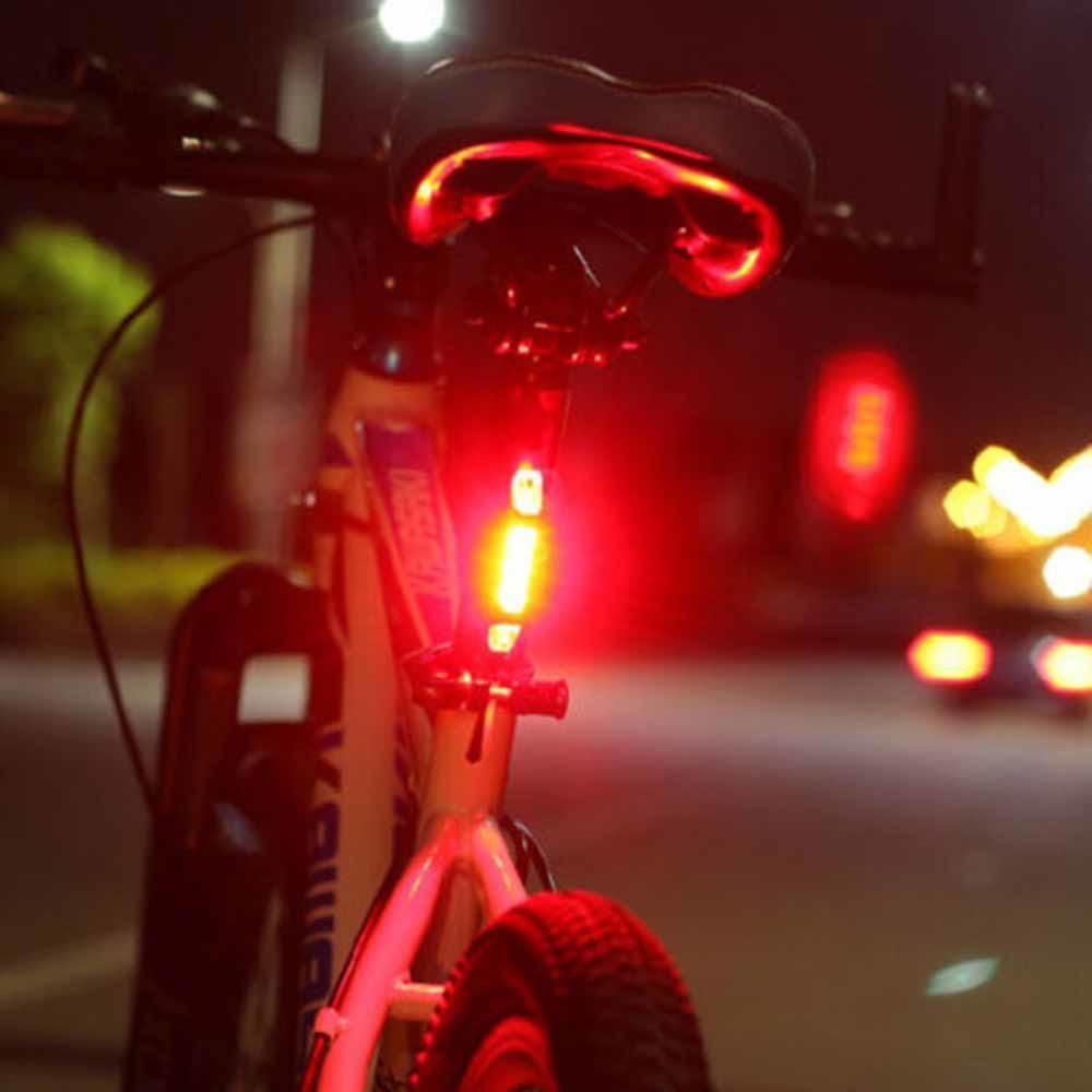 USB Rechargeable LED Bicycle Bike MTB Front Rear Tail Light Safety Warn Lamp ON