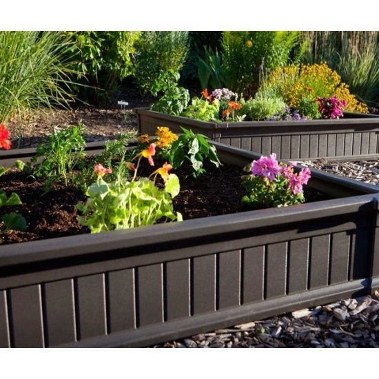 Lifetime Raised Garden 60069 4 Foot Size Package Of 3 Beds