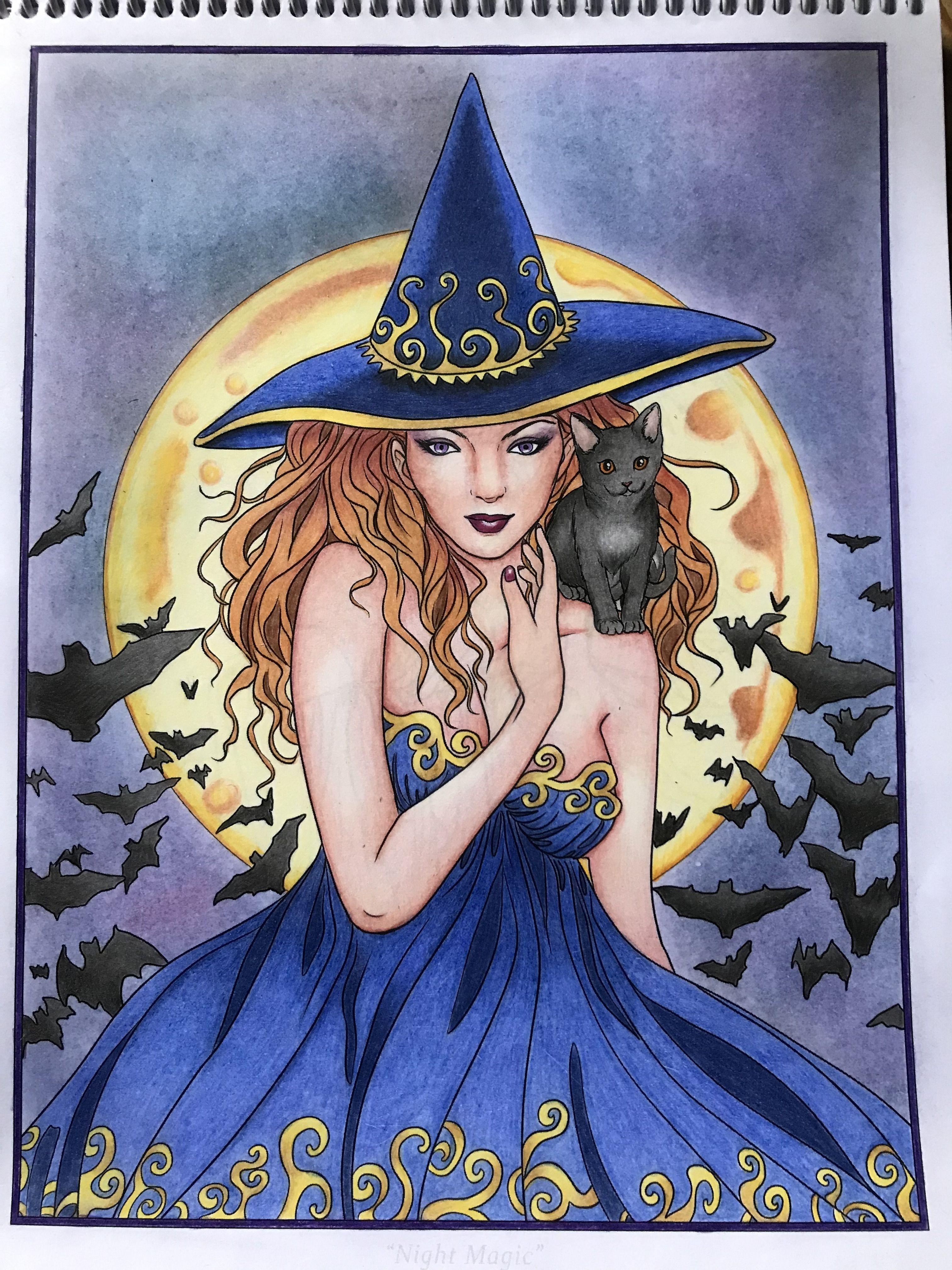 Pin On Selina Fenech Night Magic Colouring Book