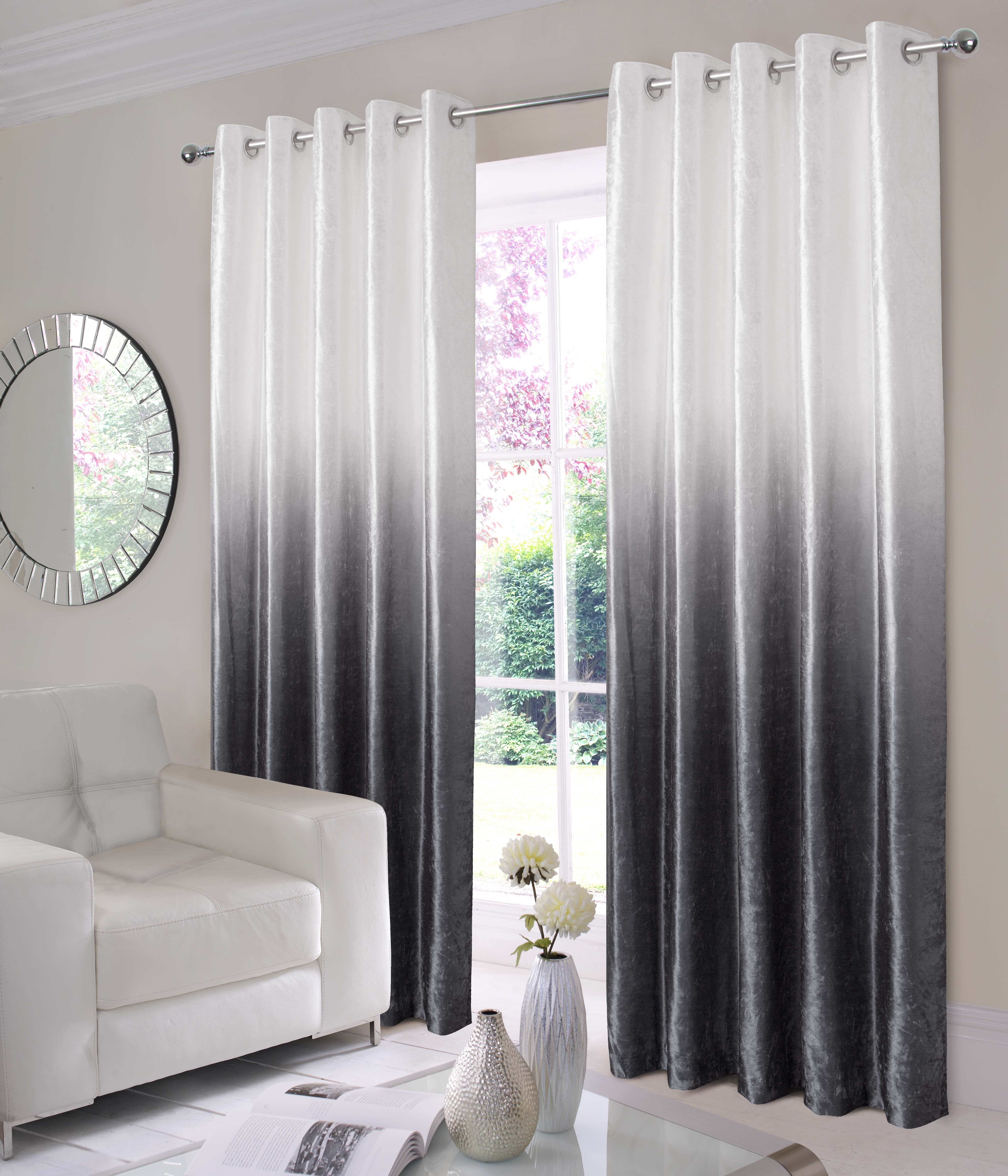 Free Home Interiordecorating Ideas: Ombre Velvet Ring Top Curtains Available In Grey And Blue