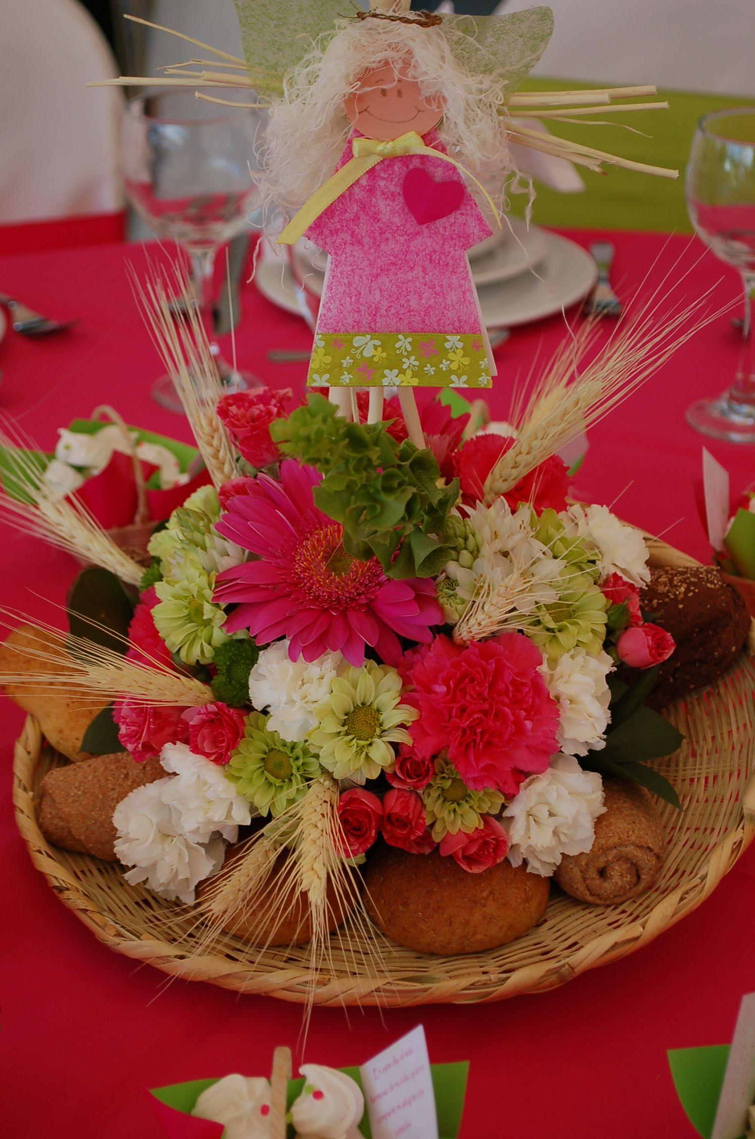 Centro de mesa primera comunion decoraci n eventos - Centros de mesa comunion ...