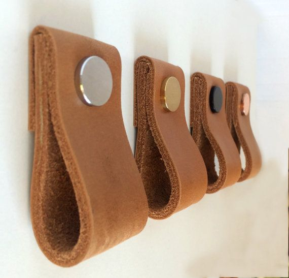 Leather Pulls / Leather Handles / Leather Cabinet Hardware
