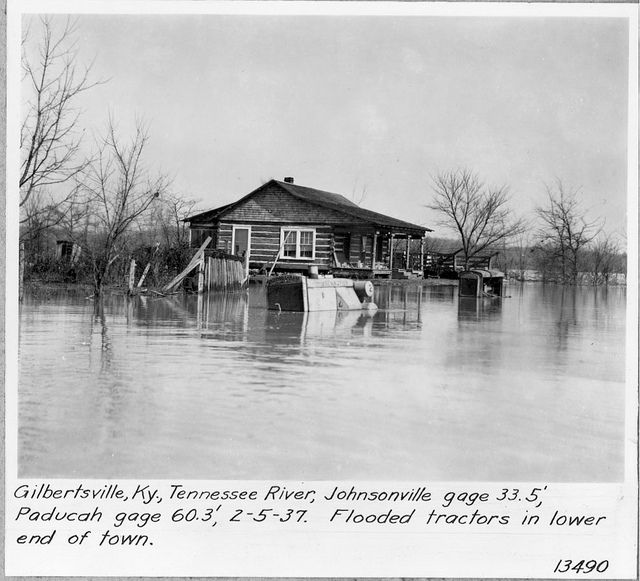 Tennessee River Flood 1937 Gilbertsville Kentucky Tennessee