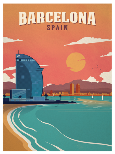 Image result for Barcelona antique posters