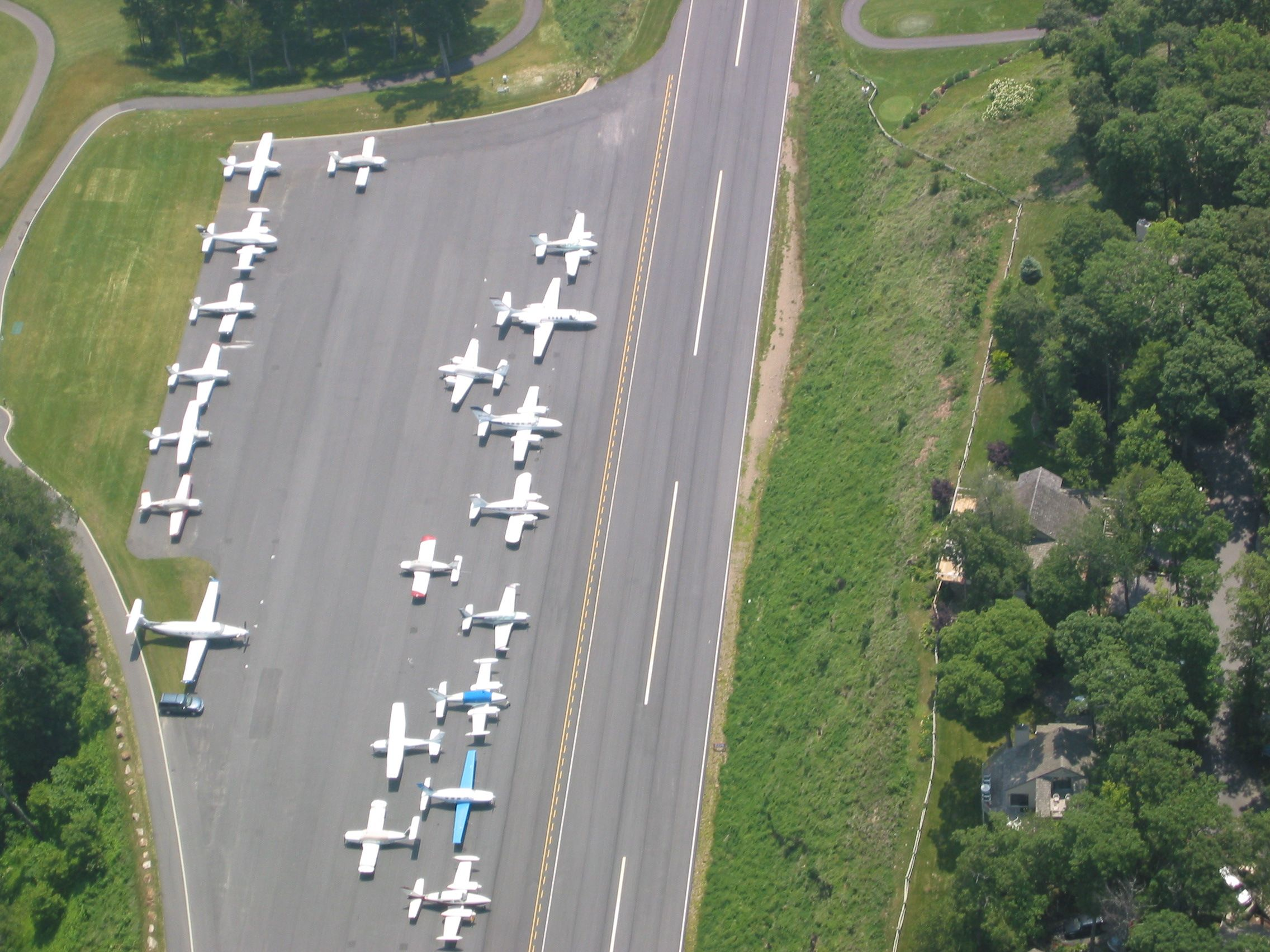 Airplane parking at Mountain Air Country Club Beautiful