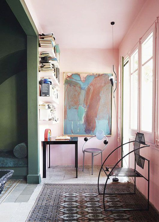 simon watson photography. when it comes to adding color to my home, i always seem to come back to blush. it just blends so well with so many other colors, and most especially i love it with a bit of d