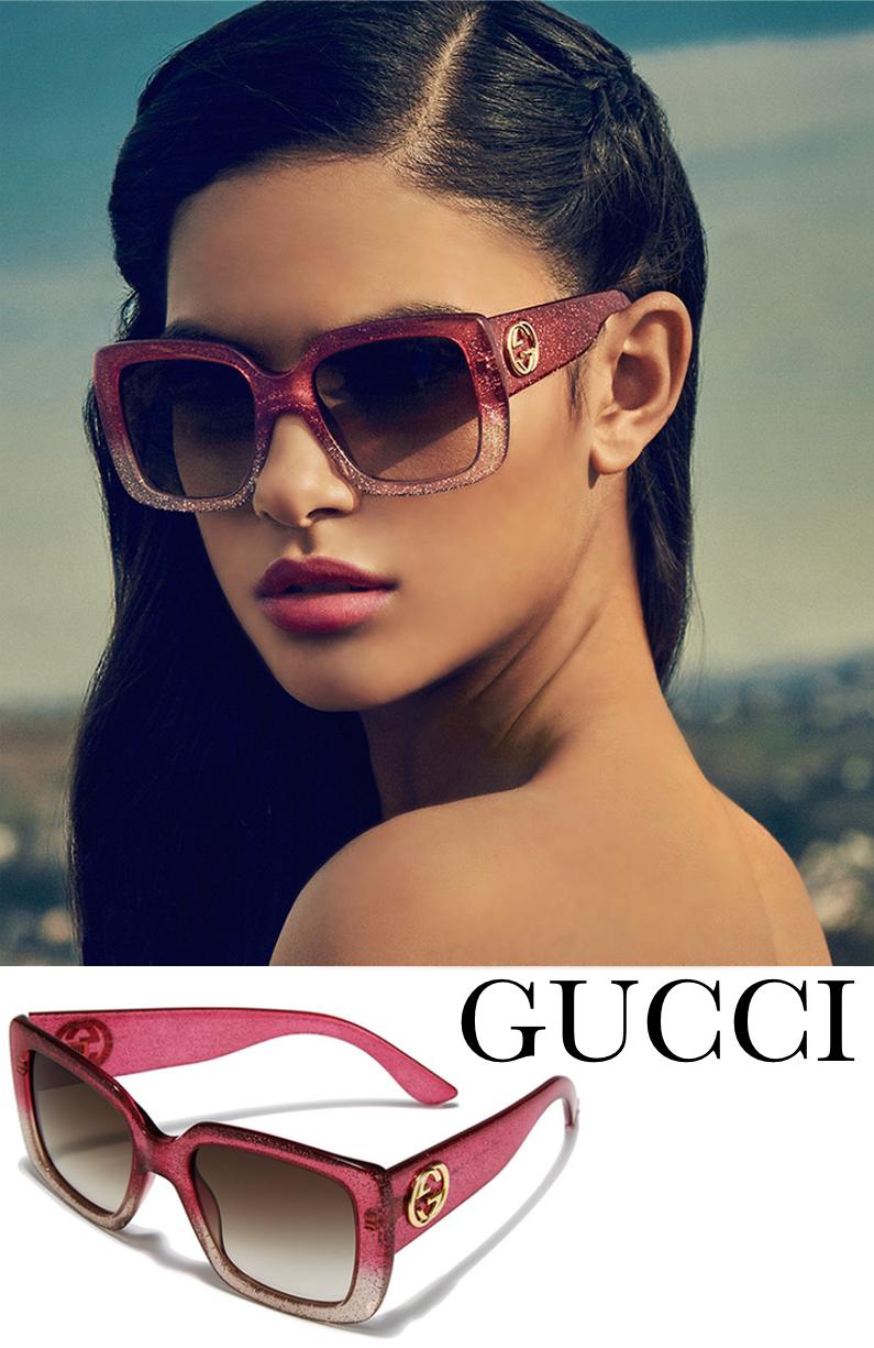 918a7af317135 Gucci 53MM Oversized Square Glitter Sunglasses