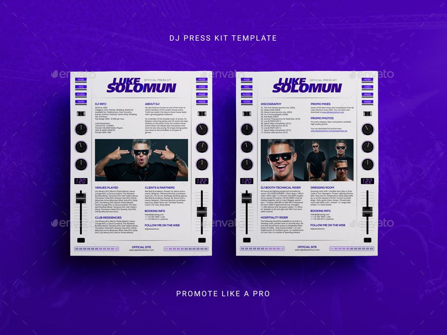 Madjestik Dj Press Kit Dj Resume Dj Rider Psd Template Ad Press Ad Kit Madjestik Dj Press Kit Template Press Kit Psd Templates