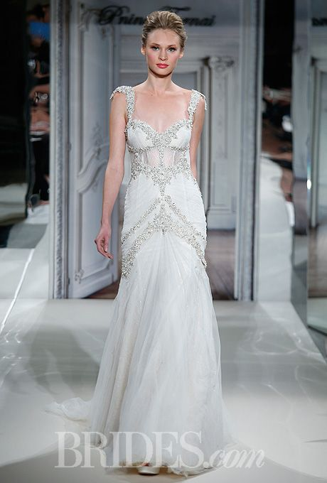 Pnina tornai for kleinfeld wedding dresses 2014 bridal for Kleinfeld wedding dresses with sleeves