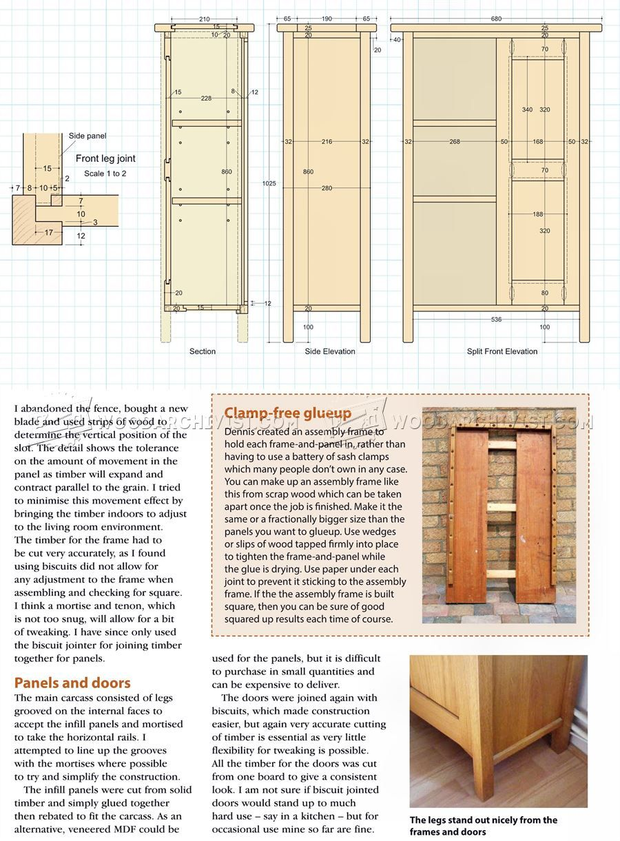 #2214 Small Cabinet Plans - Furniture Plans