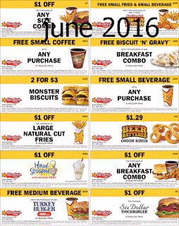 Free Printable Coupons Hardees Coupons Free food