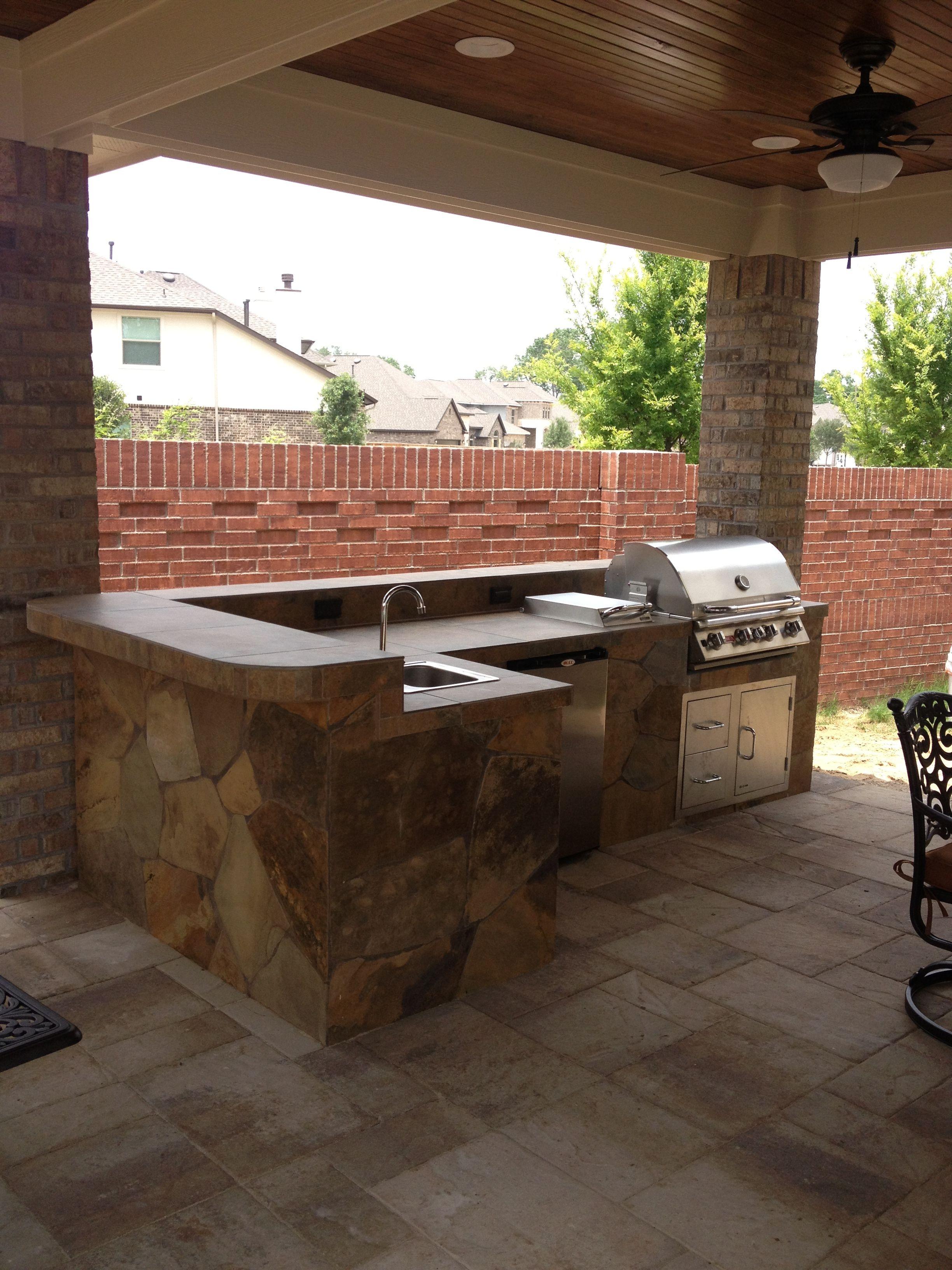 outdoor kitchen backyard paradise brick kitchen on outdoor kitchen yard id=66794