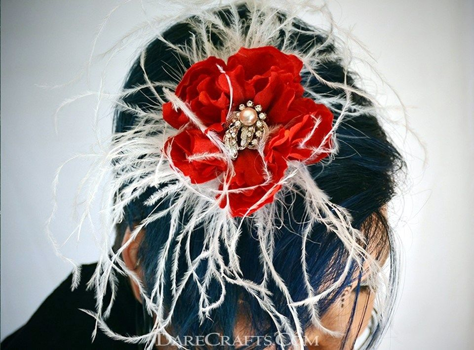 Hair flower will be great addition to summer dresses